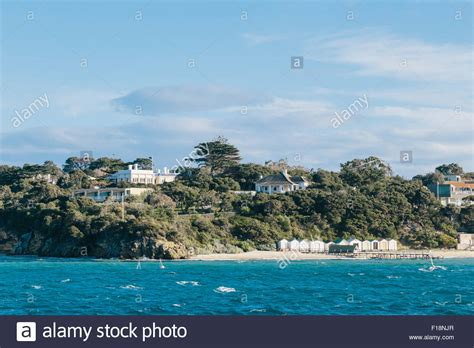 View Of Hilltop Houses At Portsea And Sorrento, Mornington