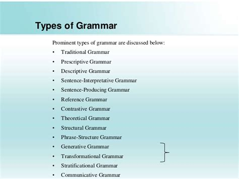 Grammar And Its Types