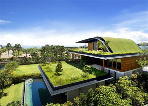 Beautiful Green Roof Garden Home, Singapore Most