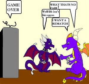 Spyro and Cynder Playing Games