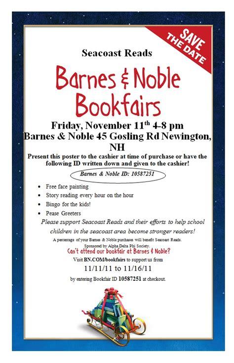 barnes and noble newington seacoast reads barnes noble bookfair poster