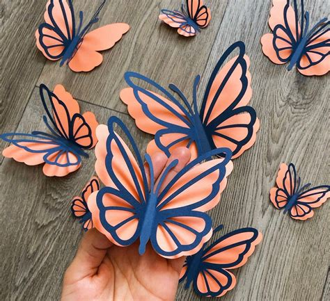 These paper butterflies look awesome in images but after making it in reality you will feel gizzy, cause they are not awesome that much but good. 6Pcs 3D custom paper butterflies wall decor, baby girl ...