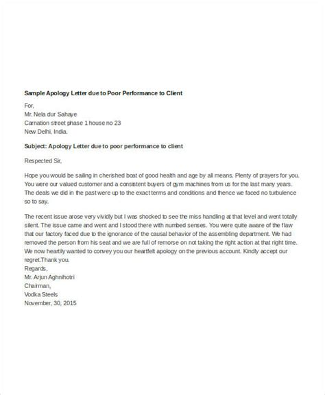 professional apology letter sle apology letter for bad food service 30713