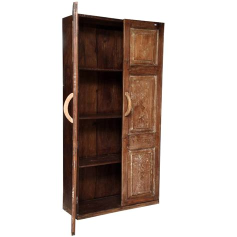 Wooden Armoire Cabinets by Rustic Reclaimed Wood Shaker Distressed Storage Armoire