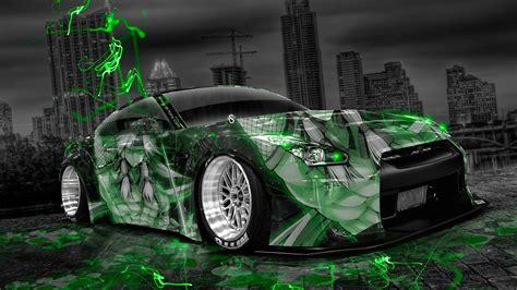 Nissan Gtr Wallpaper Green by Wallpaper The City Neon Green Tuning