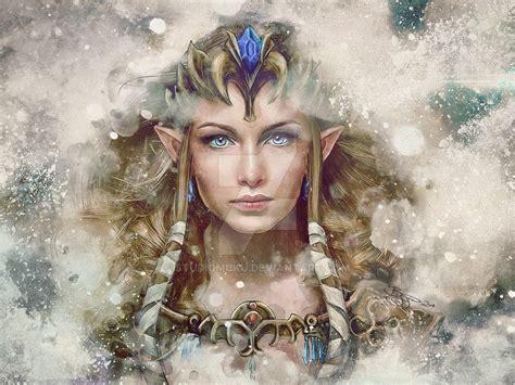 Legend Of Zelda Epic Princess Painting By Studiomuku On