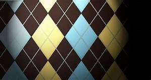 Brown checked Wallpaper