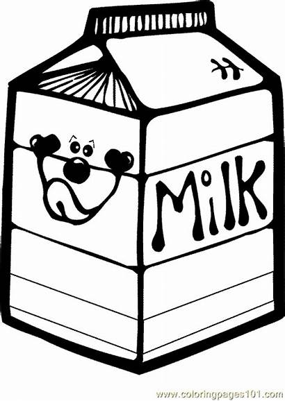 Coloring Drink Dairy Drinks Milk Clip Pages