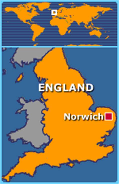 Norwich Norfolk England Map