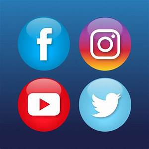 Four social media icons Vector | Free Download