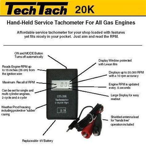 hand held tt  small engine tachometer