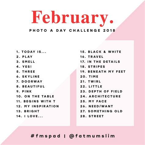 February 2018 Photo A Day Challenge  Fat Mum Slim