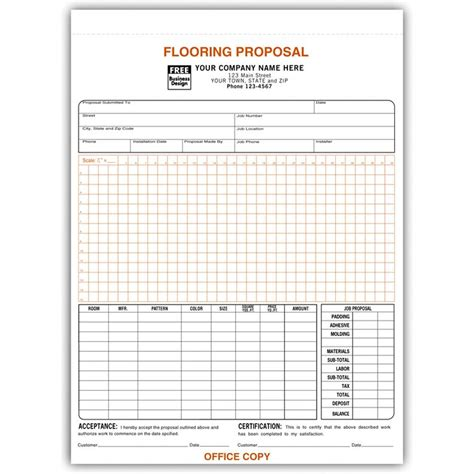 flooring contractor invoice work order designsnprint
