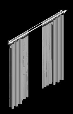 Curtain 3d in AutoCAD   Download CAD free (48.48 KB