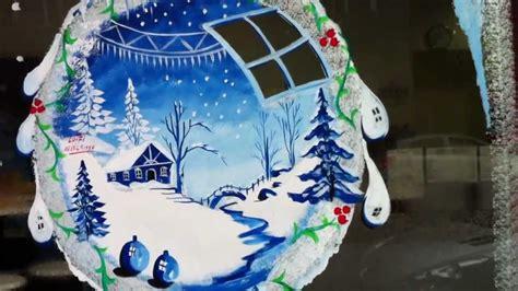 decor de noel pour vitrine vitrines de commerces en opeinture noel nouvel an tel 0621451997 lotfi bouhafs artiste peintre