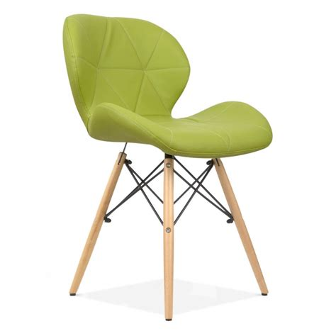 eames inspired upholstered green butterfly dining chair
