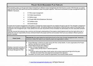 Project Scope Management Plan Template This Template Guides