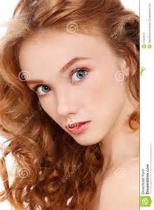 Pretty Redhead Girls with Curly Hair