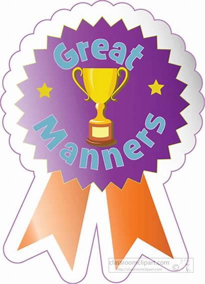 Manners Award Sticker Clipart Motivational Manner Clip