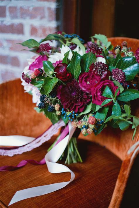 fall berry color wedding inspiration real weddings