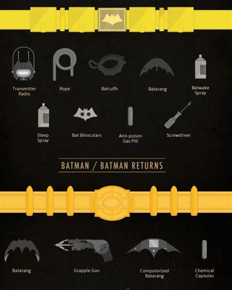 infographic  history  batmans utility belt geektyrant