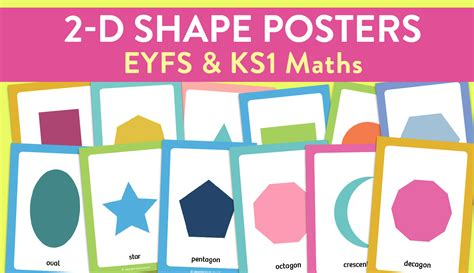 2d shape recognition posters for early years and ks1 maths