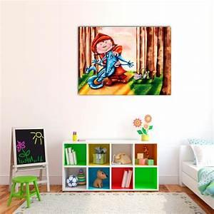 Tableau Deco Chambre : tableau petit chaperon rouge decodeo ~ Teatrodelosmanantiales.com Idées de Décoration