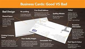 Infographic good business card design vs bad xpand for Examples of good business cards