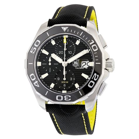 tag heuer watches tag heuer aquaracer chronograph black dial men 39 s watch