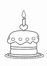 Coloring Birthday Cake Pages Cupcake Cakes Printable Happy Colouring Clipartqueen Easy Balloons Funny Visit sketch template