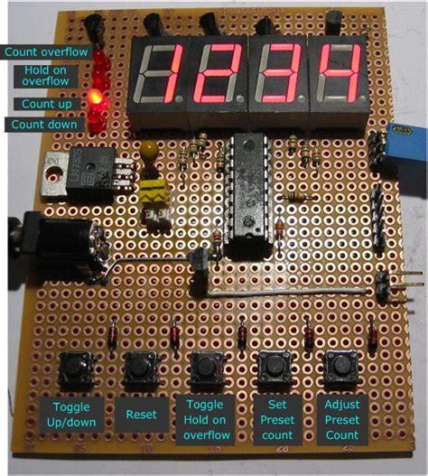 digit updown counter  preset reset hold