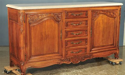 french provincial buffet table french provincial marble top buffet clark antiques
