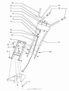 Snapper 6016rt  1695577  16 U0026quot  8 5tp Rear Tine Tiller Parts Diagram For Handle Bar Group