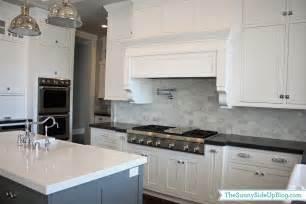 Marble Subway Tile Kitchen Backsplash My New Kitchen The Side Up