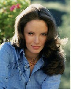 jaclyn smith hand signed  color photo charlies angels