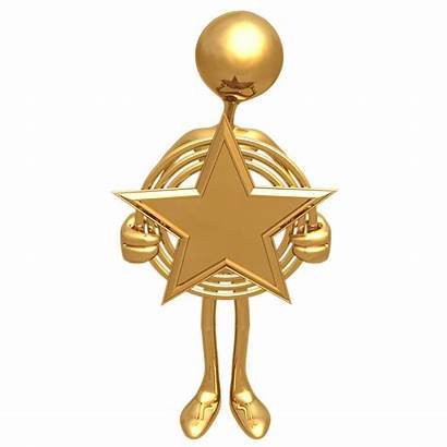 Award Star Gold Clipart Golden Cliparts Clip