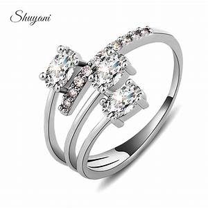 shuyani 2015 luxury zircon crystal wedding rings for women With expandable wedding ring