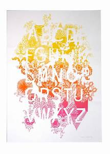 alphabet hennie haworth With screen printing letters