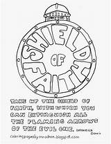 Faith Shield Coloring Pages Printable Sunday Ephesians Bible God Armor Sheets Captain Crafts Church Activities Preschoolers America Salvation Helmet Adron sketch template