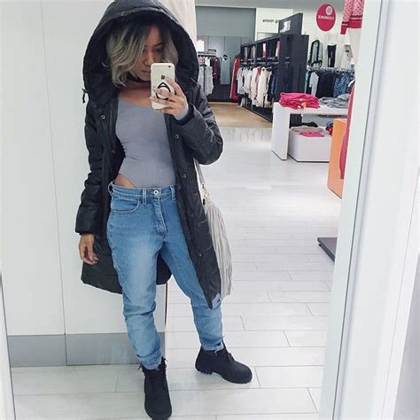 Black Timberlands Outfit For Girls