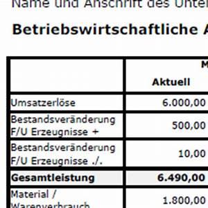 Rohertrag Berechnen : bwa erstellen h ufige fragen muster vorlagen in excel von datev ~ Themetempest.com Abrechnung