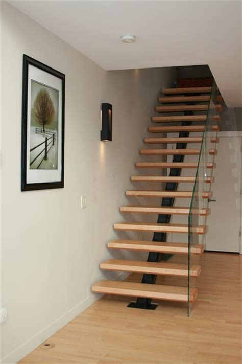 building loft stairs floating stair transitional staircase boston by