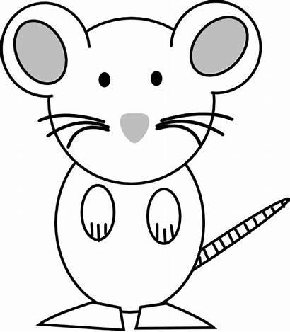 Mouse Clipart Coloring Clip Outline Rat Cliparts