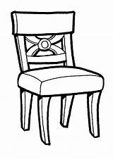 Coloring Furniture Pages Chair Raskraski Coloringtop sketch template