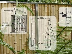 Bambus Sichtschutz Mit Edelstahl : sichtschutz elemente aus bambus edelstahl bambuswand ~ Frokenaadalensverden.com Haus und Dekorationen