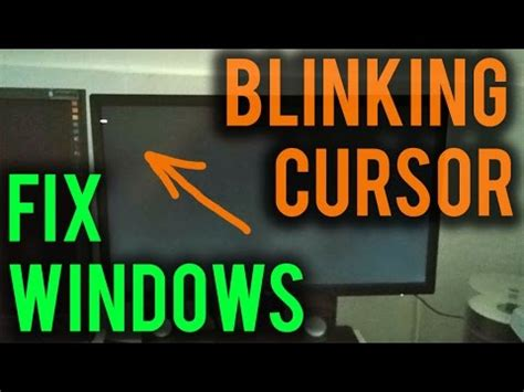 windows repair black screen blinking cursor youtube