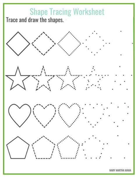 tracing shapes worksheets   year olds schematic