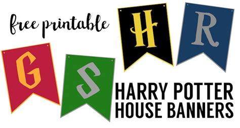 Harry Potter House Banners Free Printable   Paper Trail Design