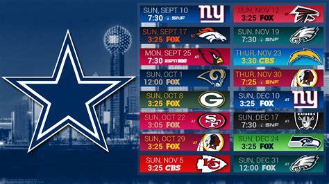 dallas cowboys  schedule game predictions  entire