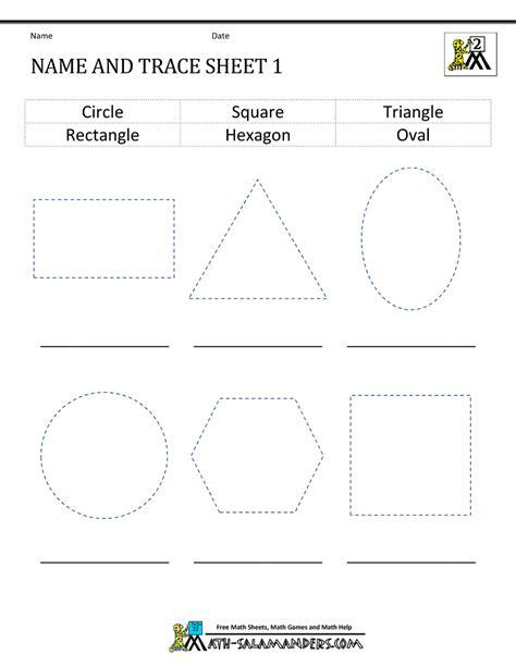2d shapes worksheets 2nd grade